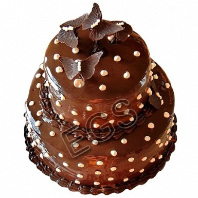 7lbs Butterfly Chocolate Cake from Redolence Bake Studio delivery to Pakistan