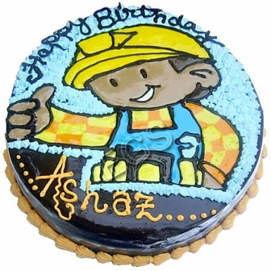 5lbs Bob The Builder Cake from Redolence Bake Studio delivery to Pakistan