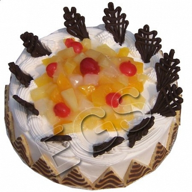 2lbs Designer Fruit Cocktail Cake From Serena Hotel delivery to Pakistan