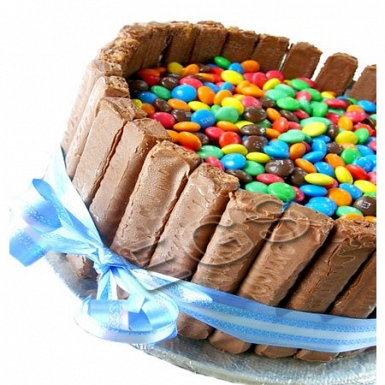 2Lbs Large MnM Craze Cake delivery to Pakistan
