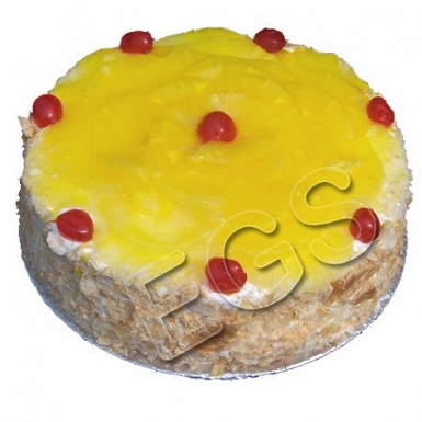 2lbs Designer Pineapple Cake From Serena Hotel delivery to Pakistan