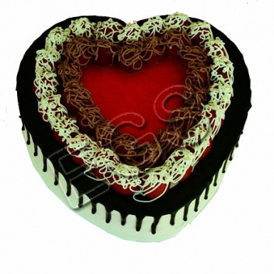Heart Shape Italian Black Forest Cake From Pearl Continental Hotel