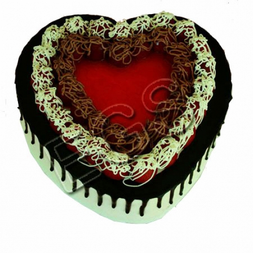 Heart Shape Italian Black Forest Cake From Pearl Continental Hotel delivery to Pakistan